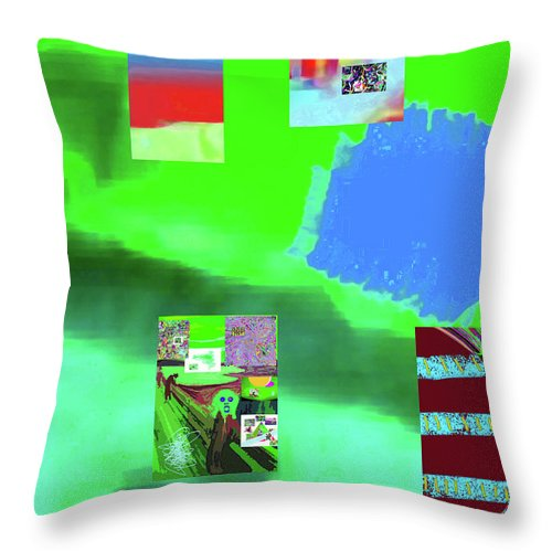 Walter Paul Bebirian Throw Pillow featuring the digital art 5-14-2015gabcdefghijklmnop by Walter Paul Bebirian