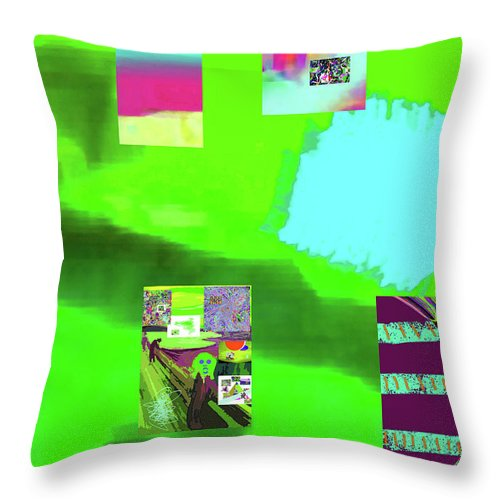 Walter Paul Bebirian Throw Pillow featuring the digital art 5-14-2015gabcdefghijklmnopqrt by Walter Paul Bebirian