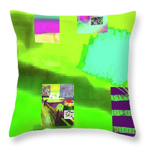 Walter Paul Bebirian Throw Pillow featuring the digital art 5-14-2015gabcdefghijklmnopqrtuv by Walter Paul Bebirian