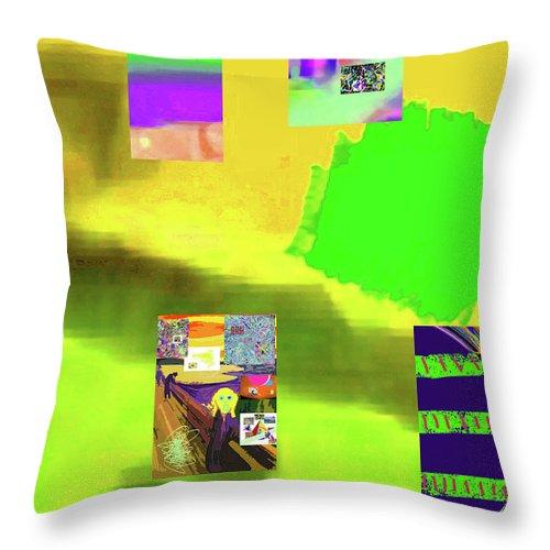 Walter Paul Bebirian Throw Pillow featuring the digital art 5-14-2015gabcdefghijklmnopqrtuvwxy by Walter Paul Bebirian
