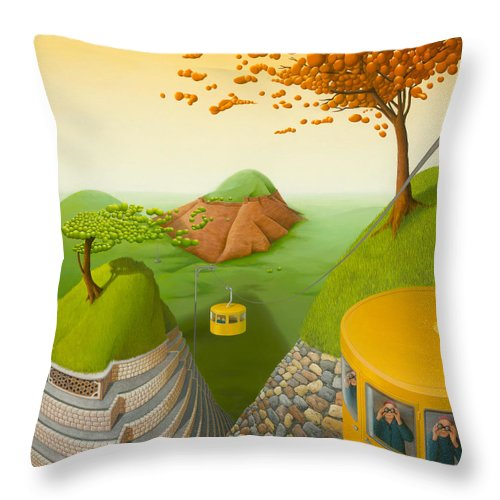 Architecture Throw Pillow featuring the painting 5 Brothers by Patricia Van Lubeck
