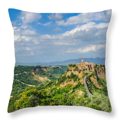 Ancient Throw Pillow featuring the photograph Civita Di Bagnoregio, Lazio, Italy by JR Photography