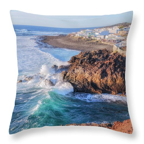 El Golfo Throw Pillow featuring the photograph El Golfo - Lanzarote by Joana Kruse