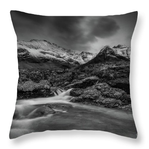 Fairy Pools Throw Pillow featuring the photograph Fairy Pools Of River Brittle by Keith Thorburn LRPS EFIAP CPAGB