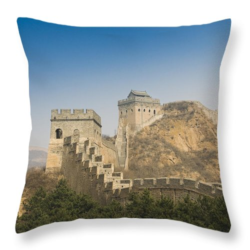 Ancient Throw Pillow featuring the photograph Great Wall Of China - Jinshanling by Gloria & Richard Maschmeyer - Printscapes
