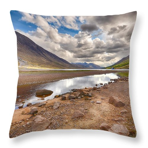 Loch Etive Throw Pillow featuring the photograph Loch Etive by Smart Aviation