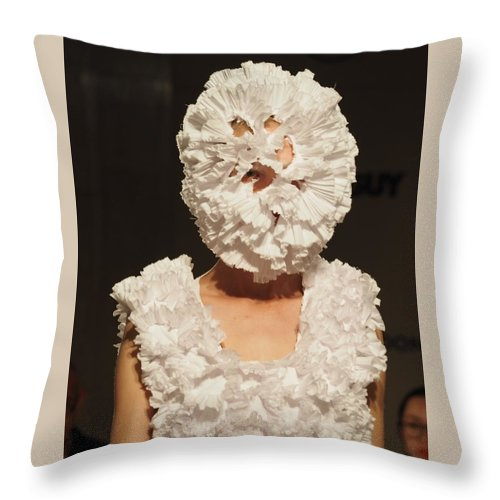 Catwalk London Fashion Week 2015 Throw Pillow featuring the photograph London Fashion Week 2015 by Angel Cher