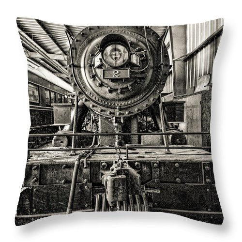 Orange Empire Railway Museum Throw Pillow featuring the photograph Orange Empire Railway Museum by Tommy Anderson