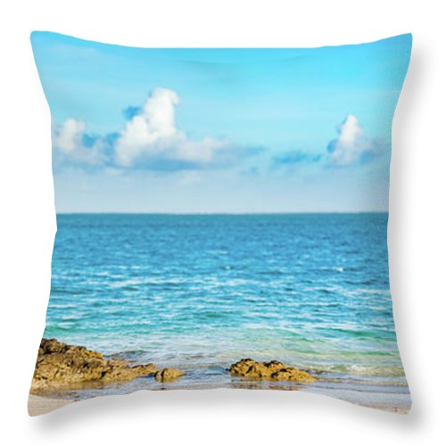 Pointe D Esny Beach Mauritius Panorama Throw Pillow For Sale By Mothaibaphoto Prints