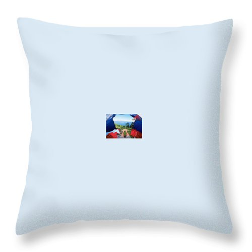 Throw Pillow featuring the photograph Camping Furniture by Gear Head Junkie