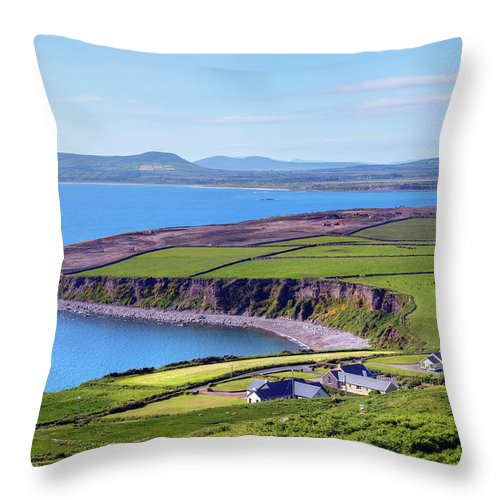 Ballingskelligs Bay Throw Pillow featuring the photograph Ring Of Kerry - Ireland by Joana Kruse