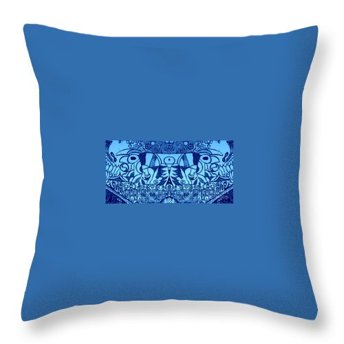 Blue Throw Pillow featuring the digital art Stand For Standing Rock Sioux Nation by Michelle S White