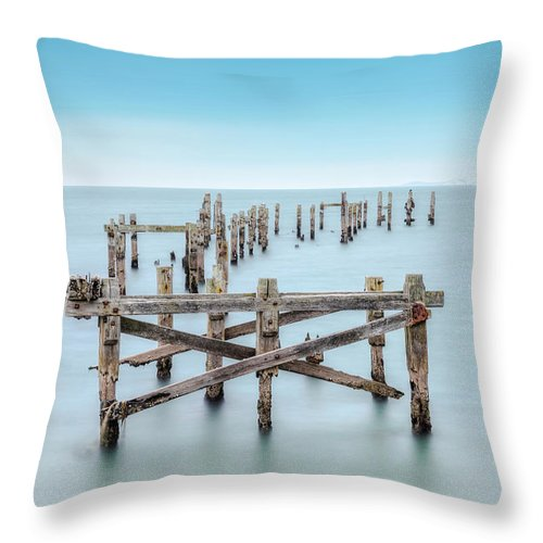Swanage Throw Pillow featuring the photograph Swanage - England by Joana Kruse