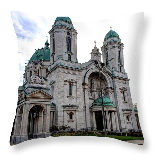 Throw Pillow featuring the photograph The Basilica by Michael Frank Jr