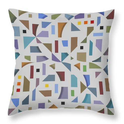 Abstract Geometric Painting Throw Pillow featuring the painting Untitled 10 by Marston A Jaquis