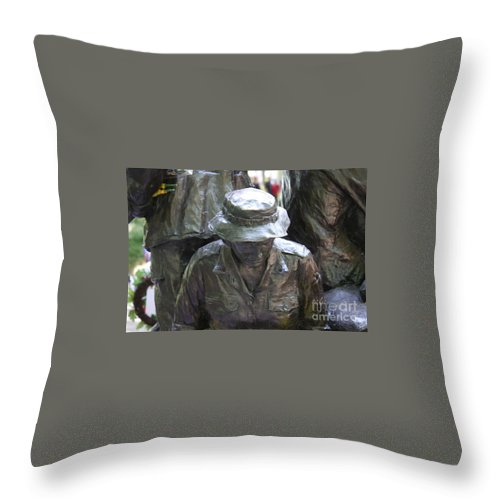Washington Dc May 2014 Throw Pillow featuring the photograph Vietnam Wall by William Rogers