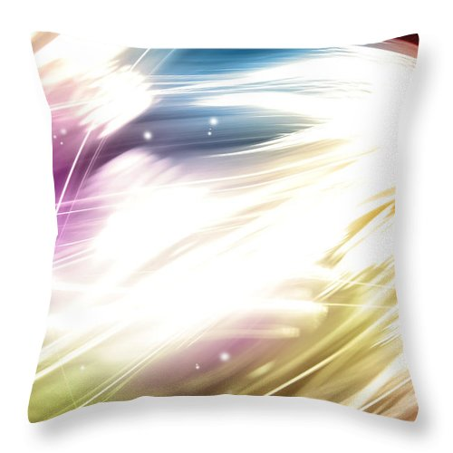 Abstract Throw Pillow featuring the digital art Abstract Background by Les Cunliffe