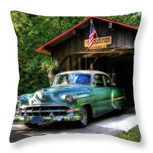 50 Throw Pillow featuring the photograph 54 Chevy by Joel Witmeyer