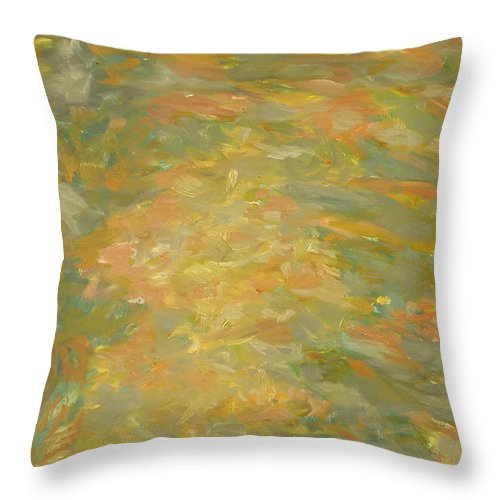 River Throw Pillow featuring the painting River by Robert Nizamov