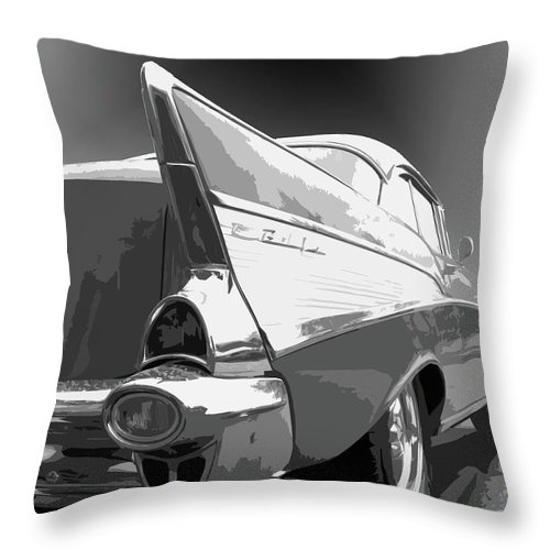 1957 Throw Pillow featuring the photograph 57 Chevy Horizontal by Dick Goodman