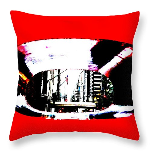 New York Throw Pillow featuring the photograph 57th Street by Funkpix Photo Hunter