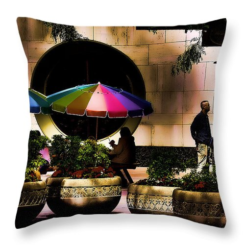 Hdr Throw Pillow featuring the photograph 5th And Pine by David Patterson
