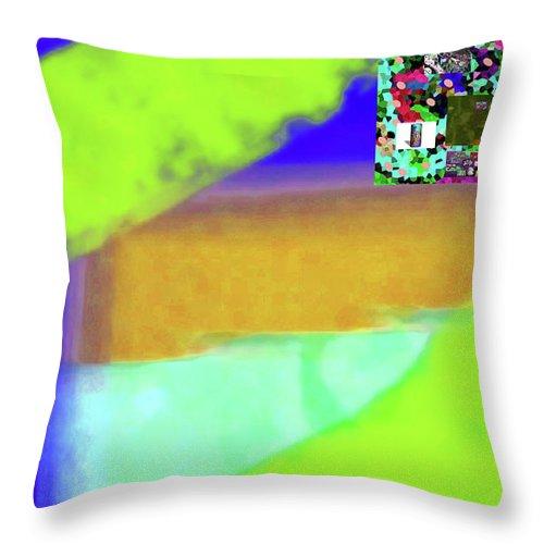Walter Paul Bebirian Throw Pillow featuring the digital art 6-17-2015dabcdefghijklmn by Walter Paul Bebirian