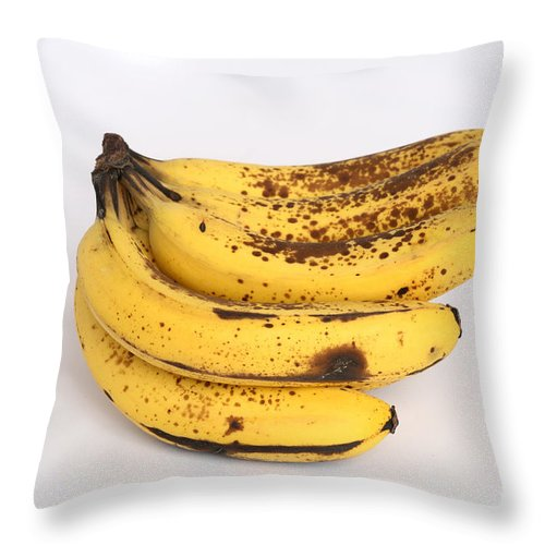 Plant Throw Pillow featuring the photograph Banana Ripening Sequence by Ted Kinsman