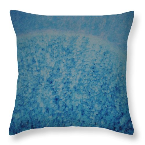 Inspirational Throw Pillow featuring the painting Calm Mind by Kyung Hee Hogg