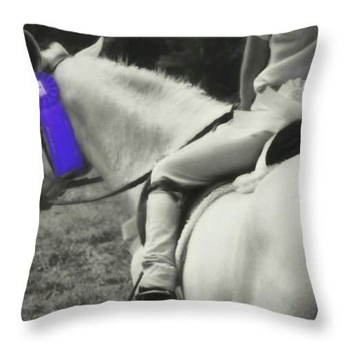 Horse Throw Pillow featuring the photograph First Show by JAMART Photography