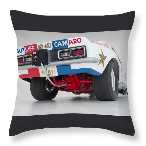 Funny Car Throw Pillow featuring the photograph Funny Car 6 by Jackie Russo