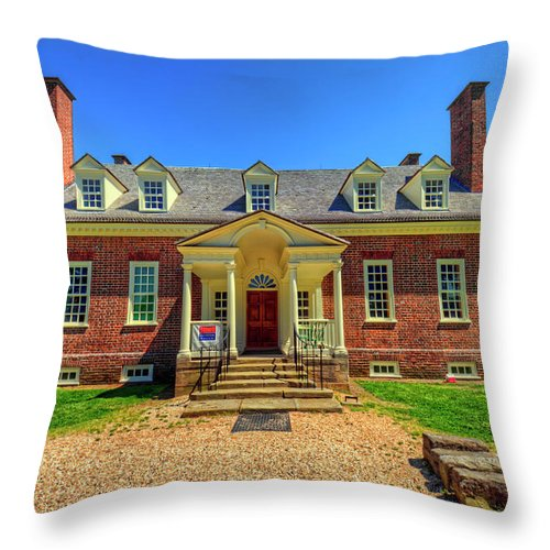 Gunston Hall Throw Pillow featuring the photograph George Mason's Gunston Hall by Craig Fildes
