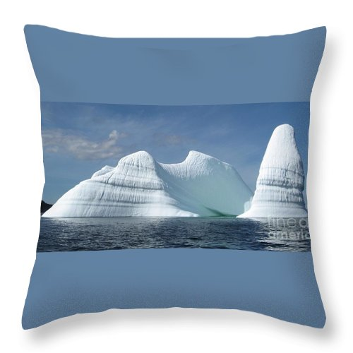 Iceberg Photograph Ice Water Ocean Sea Atlantic Summer Newfoundland Throw Pillow featuring the photograph Iceberg by Seon-Jeong Kim