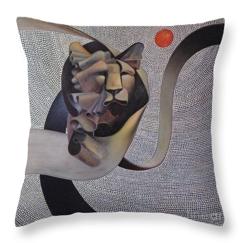 Wii Throw Pillow featuring the painting Kingdom Of Heaven by Riek Jonker
