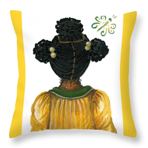 Throw Pillow featuring the painting Ashley by Sonja Griffin Evans