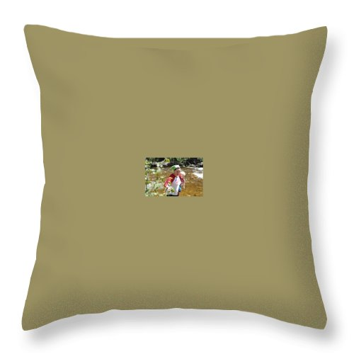 Throw Pillow featuring the photograph Camping Gear Reviews by Gear Head Provides the hands-on and experiential Expert Camping gear reviewsJunkie