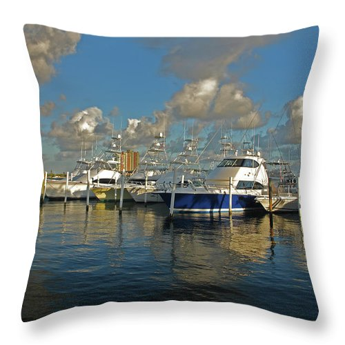 Throw Pillow featuring the photograph 6- Sailfish Marina by Joseph Keane