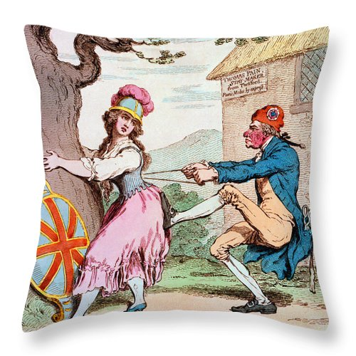 1793 Throw Pillow featuring the photograph Thomas Paine (1737-1809) by Granger
