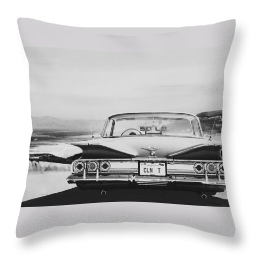 Lowrider Throw Pillow featuring the digital art 60 Impala Lowrider by Colin Tresadern