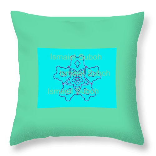 Geometric Shapes Throw Pillow featuring the digital art 68 by Ismaiel Suboh