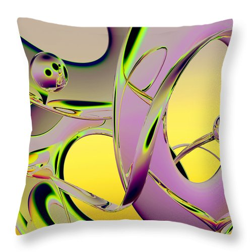 Scott Piers Throw Pillow featuring the painting 6jkb by Scott Piers