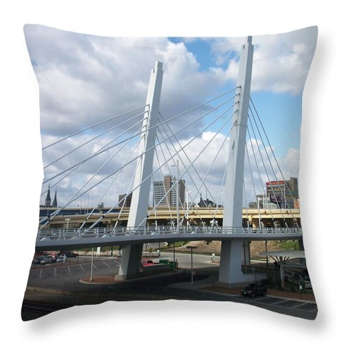 Bridge Throw Pillow featuring the photograph 6th Street Bridge by Anita Burgermeister