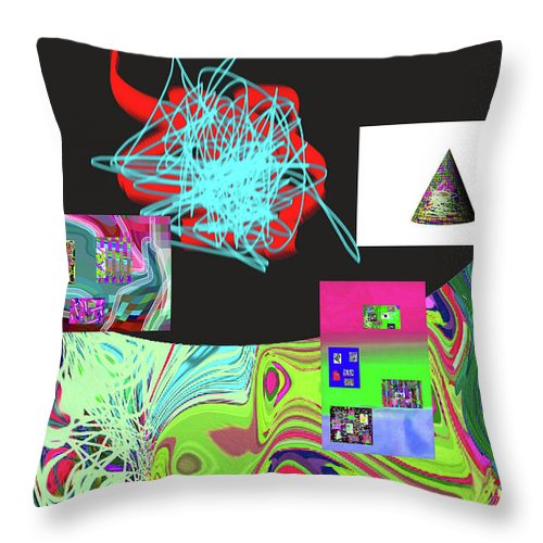 Walter Paul Bebirian Throw Pillow featuring the digital art 7-20-2015gabcdefghijklmnopqrtuvwxyzabcdefghijk by Walter Paul Bebirian