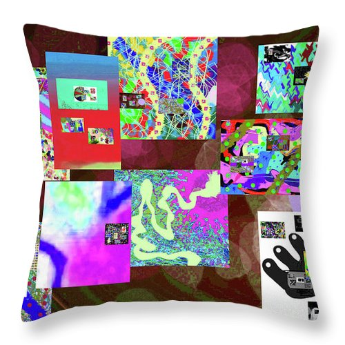 Walter Paul Bebirian Throw Pillow featuring the digital art 7-5-2015dabcdef by Walter Paul Bebirian