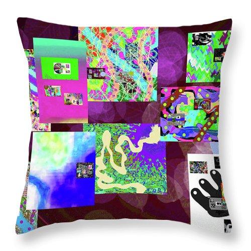 Walter Paul Bebirian Throw Pillow featuring the digital art 7-5-2015dabcdefghij by Walter Paul Bebirian