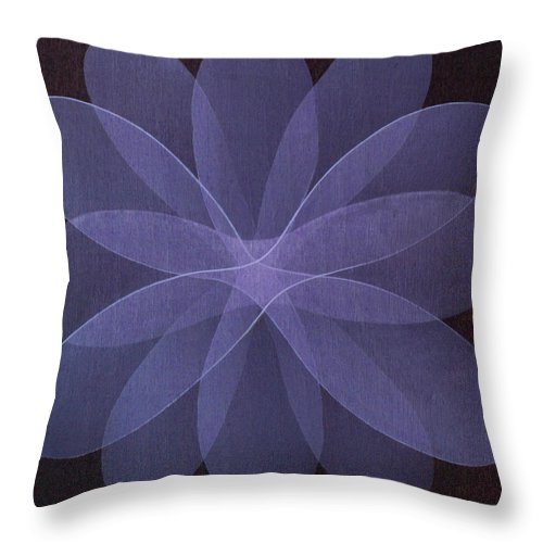 Abstract Throw Pillow featuring the painting Abstract flower by Jitka Anlaufova
