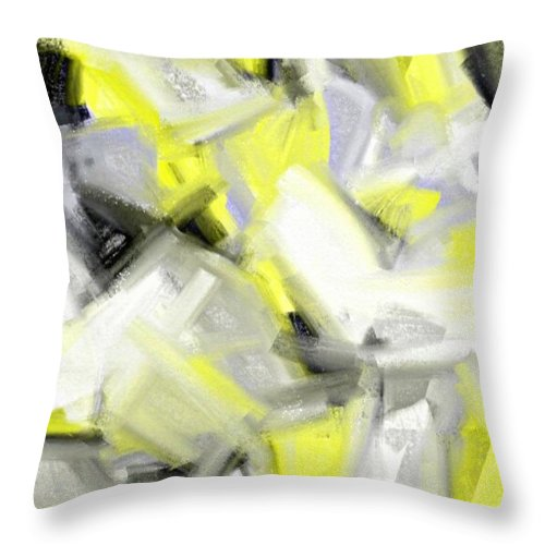 Throw Pillow featuring the painting Abstrakt by Sebastien  Braillon