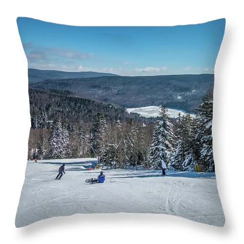 Cass Throw Pillow featuring the photograph Beautiful Nature And Scenery Around Snowshoe Ski Resort In Cass by Alex Grichenko