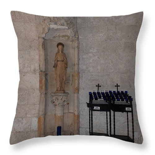 Architecture Throw Pillow featuring the photograph Miami Monastery by Rob Hans