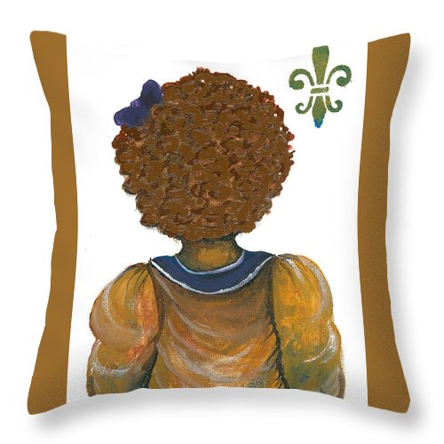 Throw Pillow featuring the painting Christina by Sonja Griffin Evans